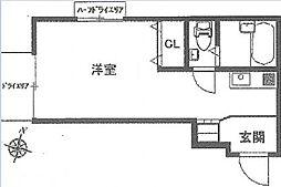 東京都渋谷区恵比寿南3丁目の賃貸マンションの間取り