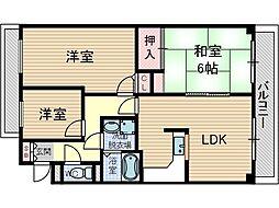 メゾン・ド・プレジール2[2階]の間取り