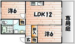 プレジール上吉田 E棟[2階]の間取り
