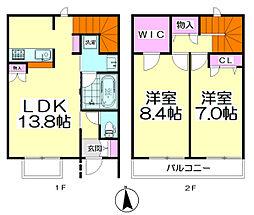 [テラスハウス] 東京都足立区竹の塚1丁目 の賃貸【/】の間取り