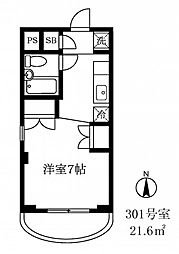 アークス太子堂[3階]の間取り