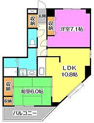 東京都練馬区西大泉6丁目の賃貸マンションの間取り