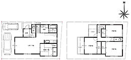 4号地参考プラン図 参考建物価格:1,380万円(セット価格:3,080万円)