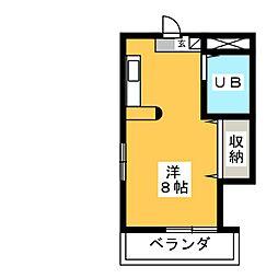 ジュネパレス稲沢 第1[3階]の間取り