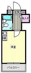 エルベコート針中野[4階]の間取り