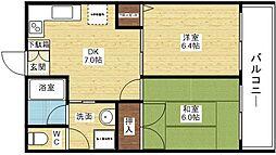 第4エンシンハイツ[2階]の間取り