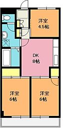 埼玉県上尾市中妻5丁目の賃貸マンションの間取り