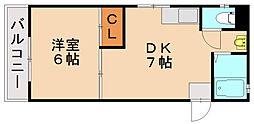 松島コーポ[3階]の間取り