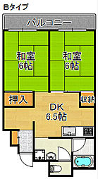 グリーンコーポ北加賀屋[3階]の間取り