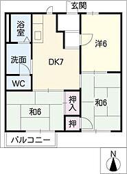 ラフィーネ桜島[1階]の間取り