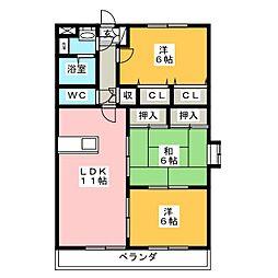 メゾン ド プレヌ[2階]の間取り