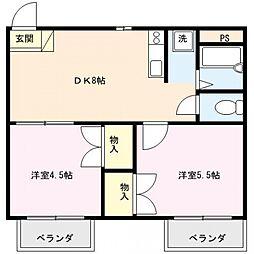 メゾンドール1番館[302号室号室]の間取り