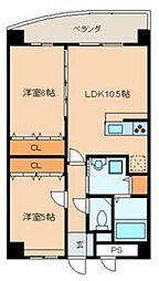 E.POPULARII[3階]の間取り