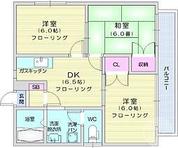 JR東北本線 南仙台駅 徒歩21分の賃貸アパート 2階3DKの間取り
