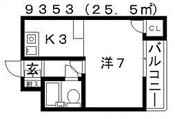 ミューゼ21[505号室号室]の間取り