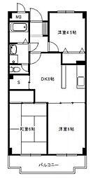 神奈川県横浜市都筑区平台の賃貸マンションの間取り