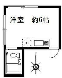 石森マンション[2階]の間取り