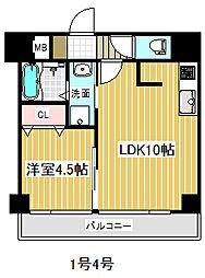 ザ コンフォルート 7階1LDKの間取り