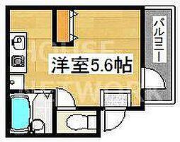 エムハウス京都[102号室号室]の間取り