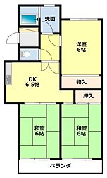 愛知県豊田市美里1丁目の賃貸マンションの間取り