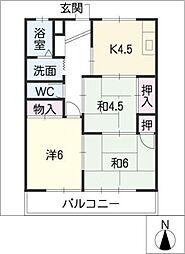 セゾンKOBAYASHI[1階]の間取り
