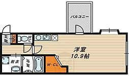 リジェール都島[5階]の間取り