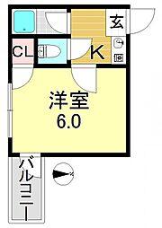 平野ビレッジPARTIII[2階]の間取り