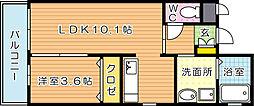 RENACE黒崎(ルネス黒崎)[2階]の間取り