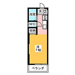 KAZU高間[2階]の間取り