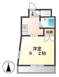 メルベーユ1[4階]の間取り