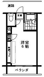 クレセントハイツ大和[2階]の間取り