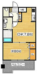レジディア博多II[13階]の間取り