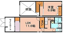 コアハイツ 笹丘[2階]の間取り