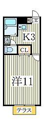 アムール江戸川台[1階]の間取り