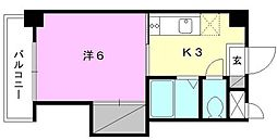 ジョイフル南江戸[402号室]の間取り