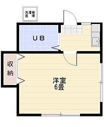若葉富士見アパート[202号室]の間取り