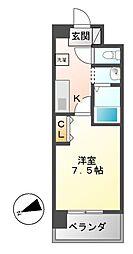 エーエスレジデンス千代田(AS[5階]の間取り