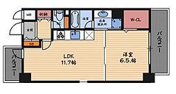 レジデンス西梅田[4階]の間取り