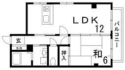 オーキッドマヤ[4階]の間取り
