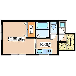兵庫県神戸市長田区真野町5の賃貸アパートの間取り
