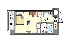 家具・家電付き ダイナコート大濠2 B[5階]の間取り