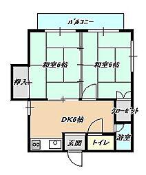 福岡県北九州市小倉北区大畠1丁目の賃貸マンションの間取り