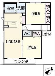 シャーメゾン青柳[2階]の間取り