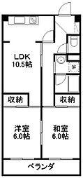 ハイツヨシカワ 405号[4階]の間取り