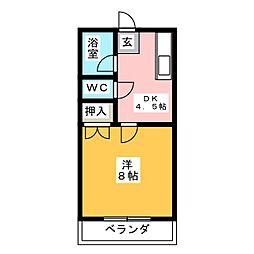 第5田畑ハイツ[2階]の間取り
