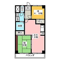 ロイヤルシティハンター[2階]の間取り
