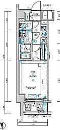 メインステージ浮間公園 3階1Kの間取り