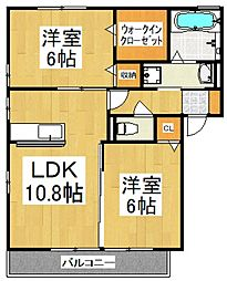 リヴェールガーデン[3階]の間取り