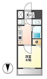 プレサンス名古屋STATIONアブソリュート[6階]の間取り