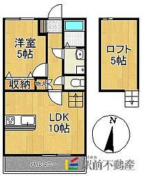 広川426ガーデンシティ[105号室]の間取り